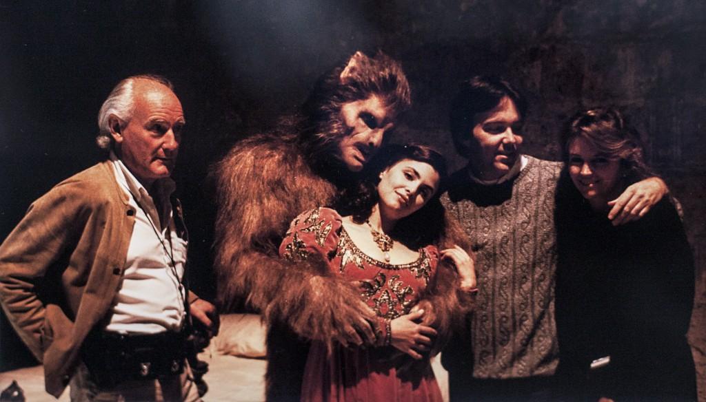 """Mac Ahlberg (längst till vänster) under inspelningen av """"Meridian"""" från 1990."""