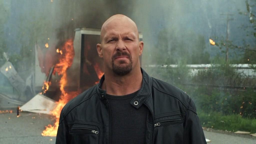 Att saker exploderar rör inte en hårding Som Steve Austin det minsta