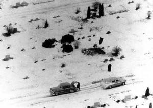 Några av de gravar som Ed Gein skändade