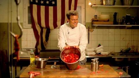 Fredrik Hiller som tokig kock...