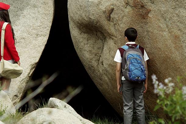 Mystiska grottor är sällan ett bra tecken...