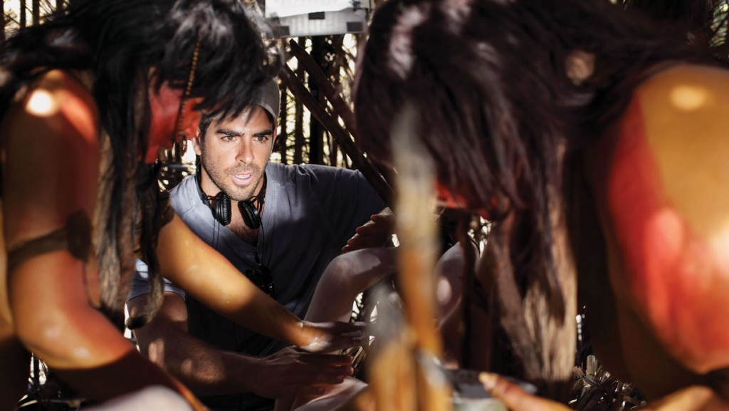 "Eli Roth under inspelningen av ""The Green Inferno""."