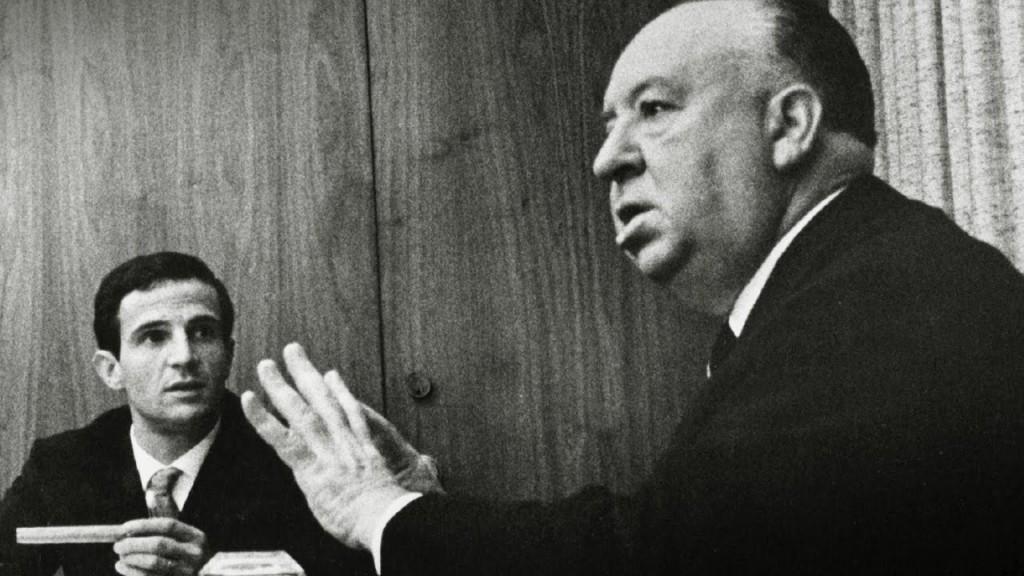 Francois Truffaut och Alfred Hitchcock i het diskussion.