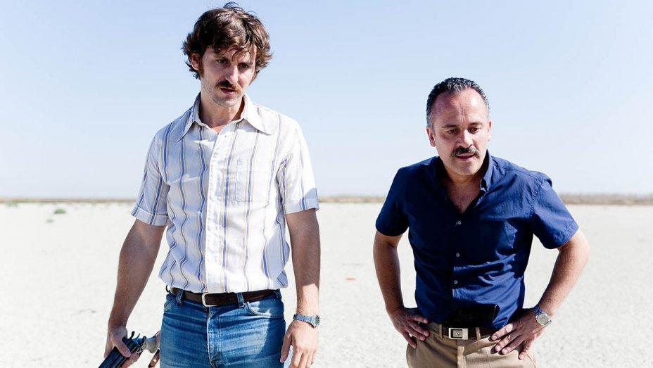 Marshlands omaka snutpar Pedro (Raúl Arévalo) och Juan (Javier Gutíerrez).