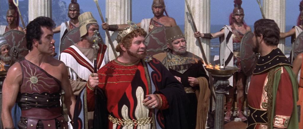 Roberto Camardiel som den illsinnade kung Serse.
