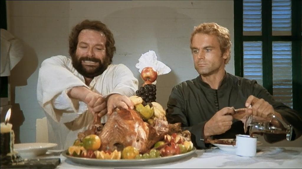 Att Bud Spencer förmodligen gillade att äta är det svårt att tvivla på...