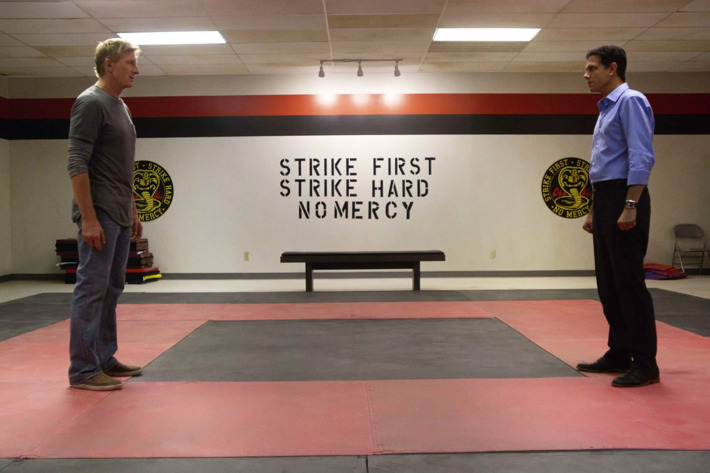 Johnny Lawrence (William Zabka) vs Daniel LaRusso (Ralph Macchio)