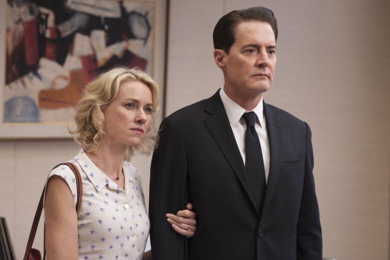Naomi Watts och Kyle MacLachlan i säsong tre av Twin Peaks